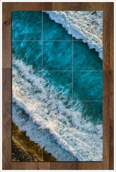 Aerial Ocean Shore Break -  Tile Mural