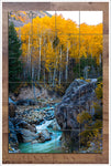 River Through Autumn Trees - Ceramic Tile Mural