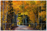 Autumn Road - Ceramic Tile Mural