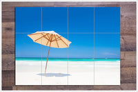Beach Umbrella -  Tile Mural