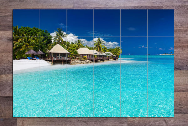Island Beach Villas - Ceramic Tile Mural
