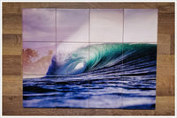 Big Blue Ceramic Tile Mural