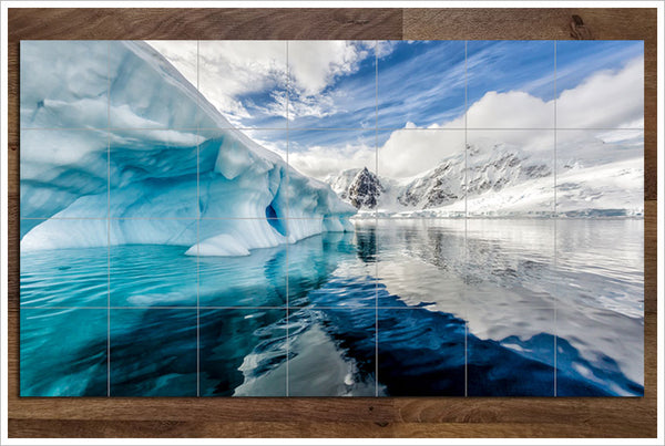 Blue Iceberg - Ceramic Tile Mural