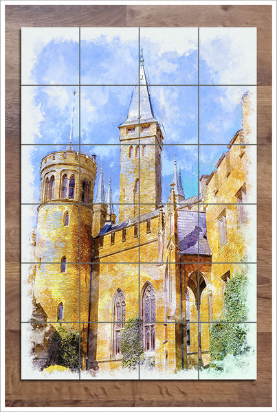 Cathedral Watercolor -  Tile Mural