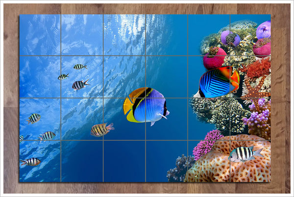 Coral Reef 02 - Ceramic Tile Mural