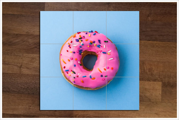 Pink Doughnut with Sprinkles - Ceramic Tile Mural