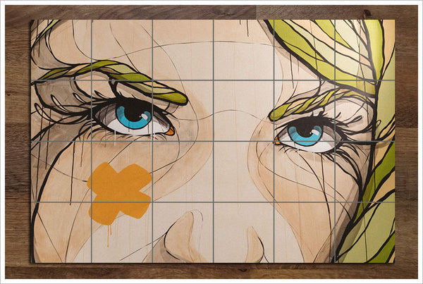 Graphic Womans Face - Ceramic Tile Mural