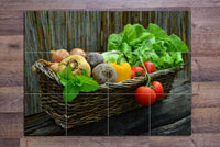 Garden Food Basket - Ceramic Tile Mural