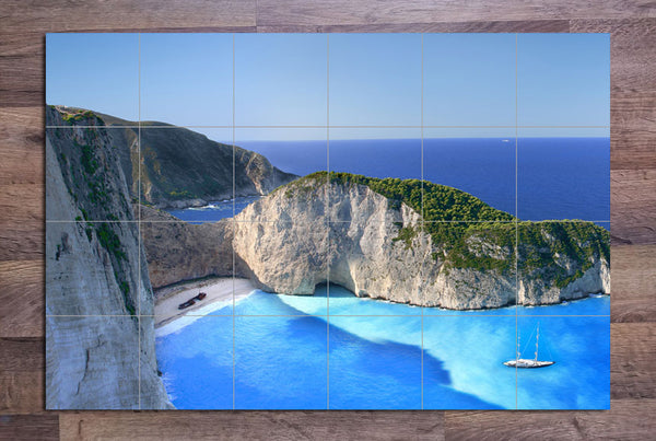 Greece Shipwreck - Ceramic Tile Mural