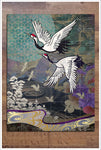 Heron Crane Graphic -  Tile Mural