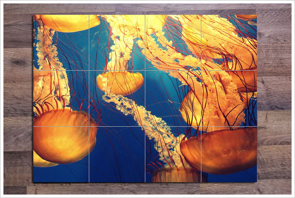 Jellyfish -  Tile Mural