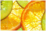 Kiwi and Oranges Floating -  Tile Mural