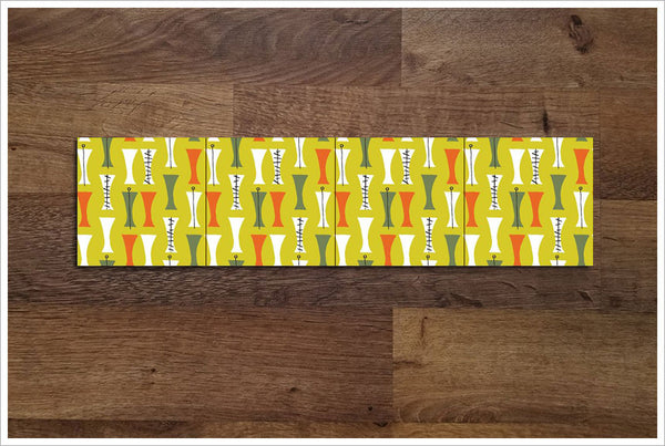 Mid Century Modern Pattern 05 - Ceramic Tile Border