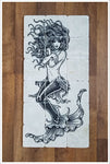 Mermaid Tattoo- Stone Tile Mural