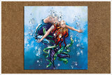 Mermaid Floating -  Accent Tile