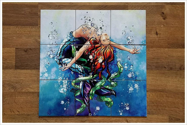 Mermaid Ceramic Tile Mural