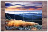 Mountain Sunset Ceramic Tile Mural