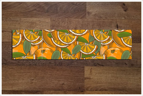 Vintage Woodcut Graphic Oranges -  Tile Border