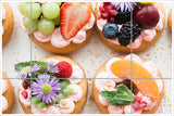 Bakery Pastries with Fruit - Ceramic Tile Mural
