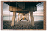 Sunset Under Pier -  Tile Mural