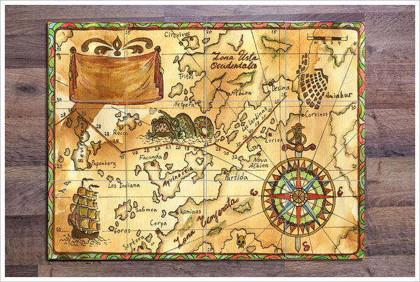 Pirate Map 01 - Ceramic Tile Mural