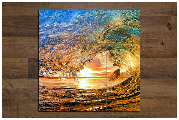 Rainbow Wave -  Tile Mural