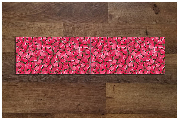 Red Hibiscus Flower Graphic - Ceramic Accent Border