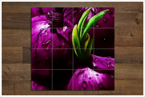 Red Onions - Ceramic Tile Mural