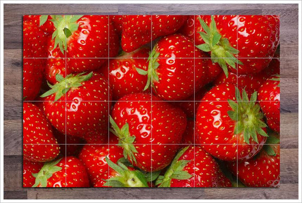 Strawberries Ceramic Tile Mural