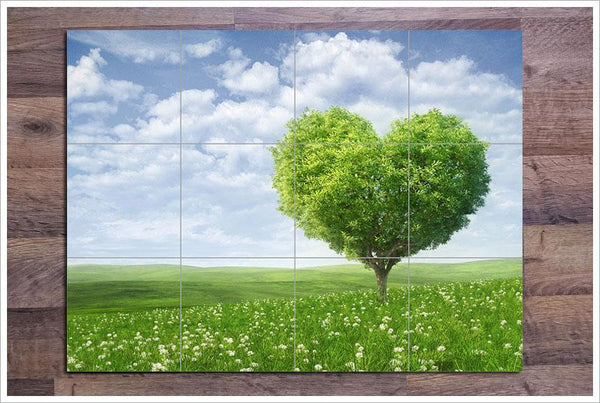 Tree Heart Ceramic Tile Mural