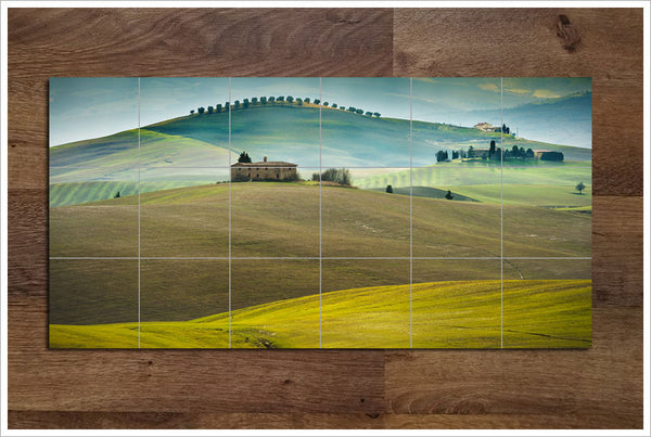 Tuscan Valley Italy - Ceramic Tile Mural