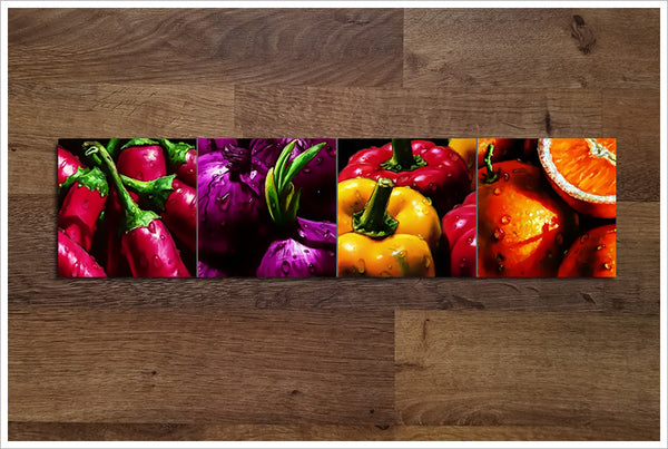 Vegetable & Fruit Graphics -  Accent Tiles
