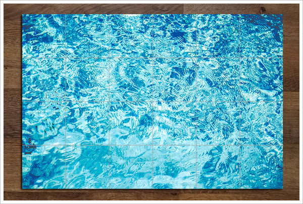Pool Water Reflections -  Tile Mural