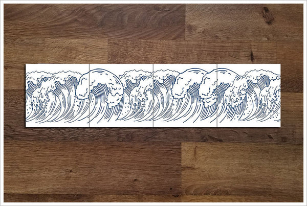 Ocean Wave Outline 01 -  Tile Border