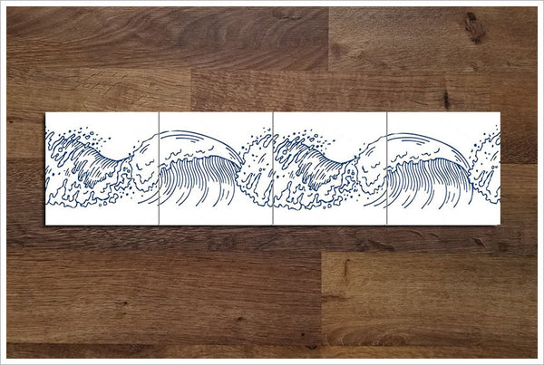 Ocean Wave Outline 02 -  Tile Border