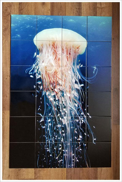 Jellyfish Ceramic Tile Map