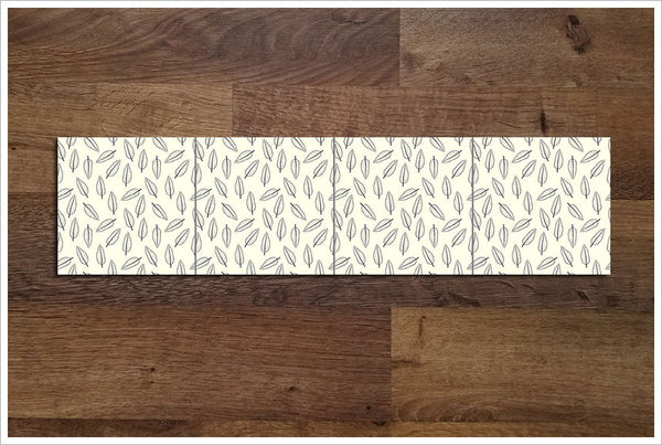 Modern Leaf Pattern 04 - Ceramic Tile Border