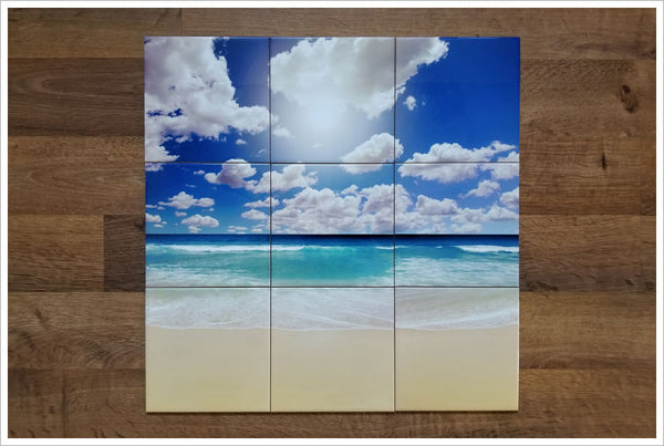 White Sand Beach -  Tile Mural