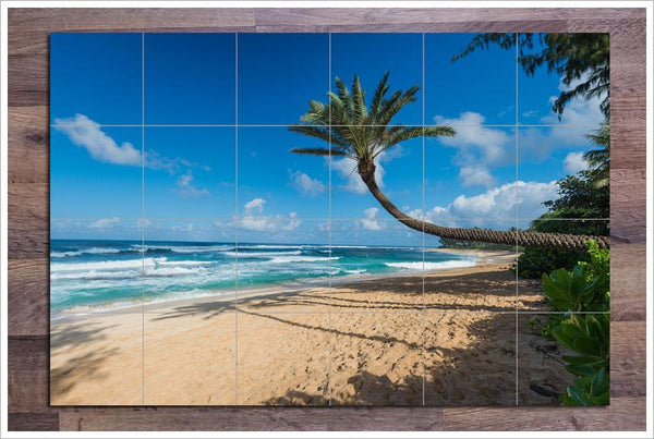 White Sand Palms Ceramic Tile Mural