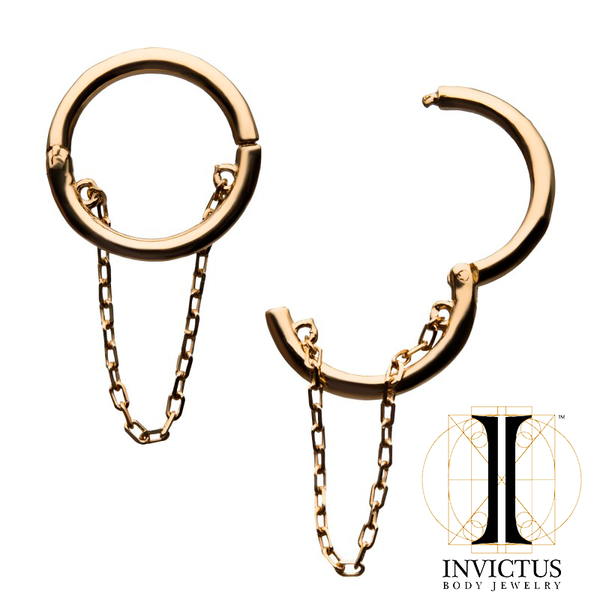 14kt Chain Hinged Segment Ring
