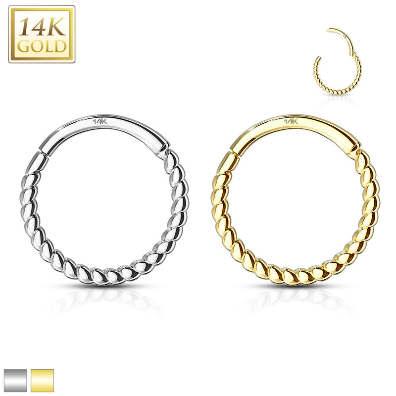 16G - 14 Kt. Gold Braided Hinged Segment
