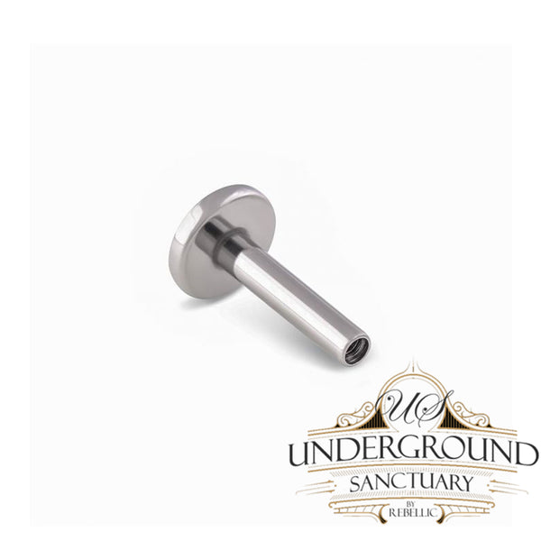 16g Internally Threaded Titanium Labret Post