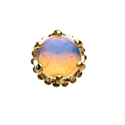 Threadless Crown With Opal Ends