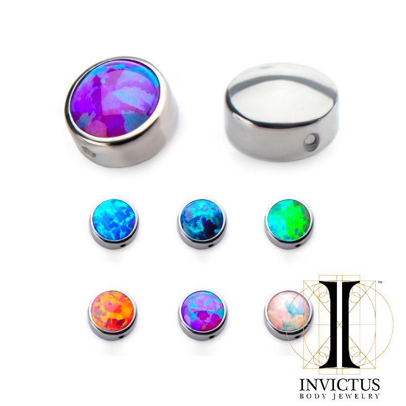 Titanium Synthetic Opal Replacement Dimple Beads