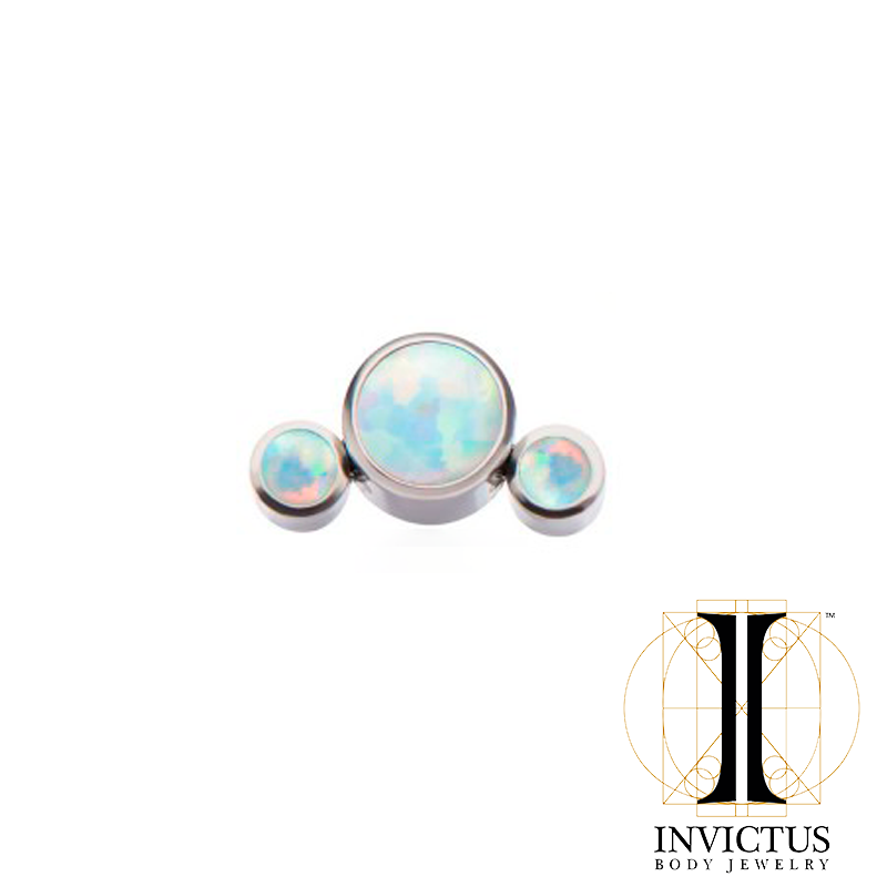 Titanium 3-Synthetic Opal Cluster Threaded Ends