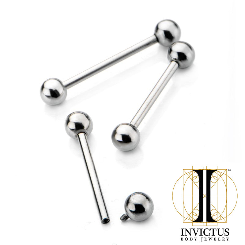 12g Internally Threaded Titanium Barbell