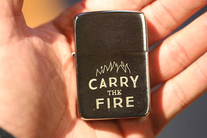 """Carry the Fire"" Zippo Lighter"