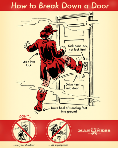 How to Break Down a Door Poster [PRINT ON DEMAND]