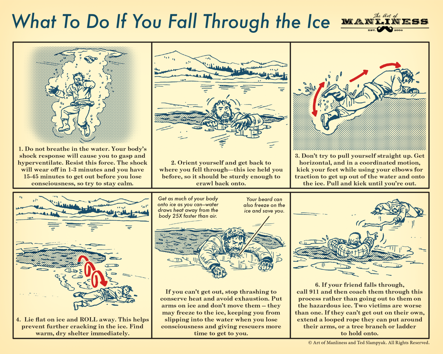 What To Do If You Fall Through the Ice Poster [PRINT ON DEMAND]