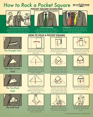 How to Rock a Pocket Square Poster [PRINT ON DEMAND]